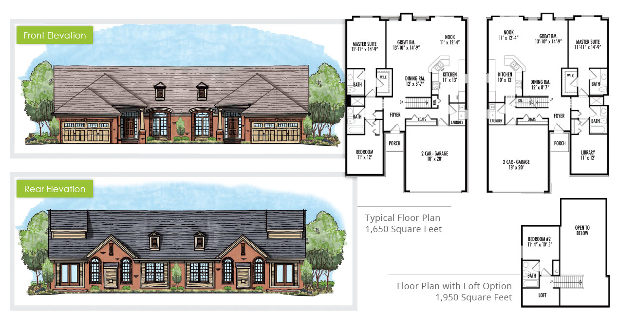Fairways Floor Plans & Elevations